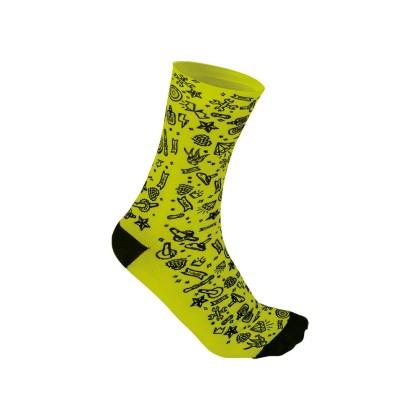 Κάλτσες Ποδηλασίας   BRN   Rock'N'Roll   Κίτρινο Fluo