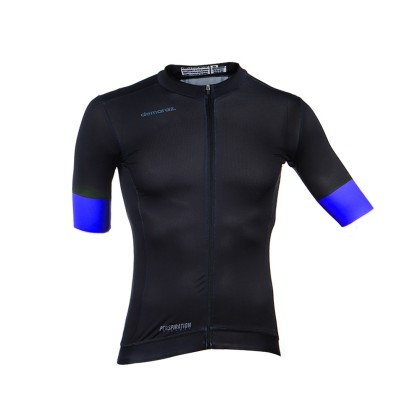 Φανέλα ποδηλασίας   Κοντό Μανίκι   DEMARAZ   Pro Elite   Μαύρη - Μπλέ
