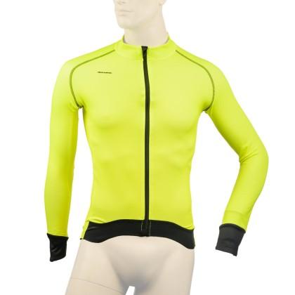 Ζακέτα ποδηλασίας | DEMARAZ | Κίτρινη Fluo | Pro γραμμή
